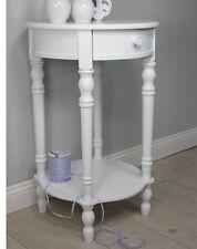 Table de chevet rond blanc ancien bois Maison campagne Rosali armoire nuit