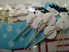 Snowflake Cupcake 24 Wrappers &  24 Cupcake Picks