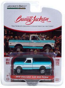 1:64 GreenLight *BARRETT-JACKSON 6* Blue & White 1972 Chevy K10 4X4 Pickup *NIP*