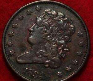 1834 Philadelphia Mint Copper Classic Head Half Cent