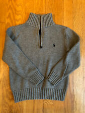 Boys' Ralph Lauren 1/4 Zip Sweater Grey Size 6