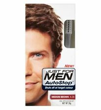 Just For Men AutoStop Mens Hair Colour Dye Restorer MEDIUM BROWN Colouring