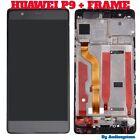 GLS: DISPLAY LCD +TOUCH SCREEN + CORNICE per HUAWEI P9 NERO FRAME COVER EVA-L09