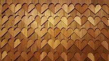Shingles - Hearts - #60 Split Wood 1/12 scale dollhouse made USA covers 2.5sqft
