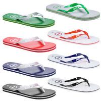 Mens Penn Basic Textured Slip On Summer Beach Bathroom Garden Flip Flops Size