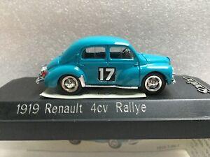 SOLIDO 1919 Renault 4 cv Rallye à restaurer 1/43
