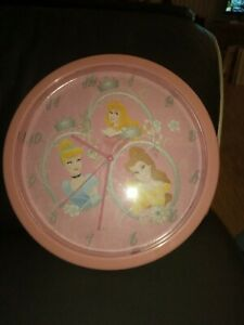 Disney Princess Round Wall Clock