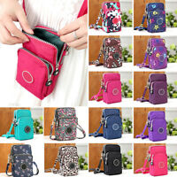 Women Mobile Phone Shoulder Bag Wallet Coin Bag Crossbody Purse Canvas Handbag