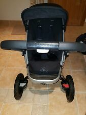 XX QUINNY BUZZ 3 TRAVEL SYSTEM ROCKING BLACK WITH CARRYCOT & ADAPTORS