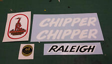 "Raleigh ""CHIPPER"" bike decal/sticker set"