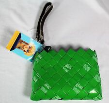 Nahui Ollin Clutch Bag Wristlet Candy Wrapper Bag Recycled Green - New