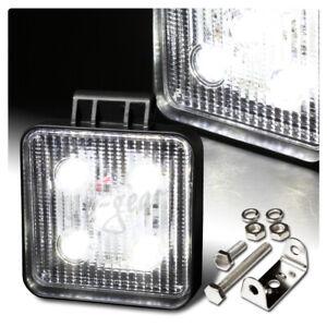 Universal White LED 12V 15W 1275 Lumen SUV Truck Off Road Flood Work Light Lamp