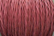 1 METRO Borgogna SETA COPERTA 3 Core Luce FLEX FILO INTRECCIATO Twisted Cord B6