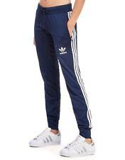 ADIDAS Originals Poly 3 strisce Pants/Pantaloni sportivi-Blu-WOMEN 'S TAGLIA UK 10