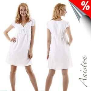Kleid, ANISTON. mit Rüschen, Baumwolle Weiß. Gr. 36. NEU!!!
