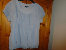 1 Grey 2 layer floaty top with scoop neck and bubble hem, PAPAYA, size 10