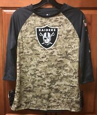 Nike Oakland Raiders Women's Salute To Service 3/4 Sleeve Shirt 874883-060 Sz M