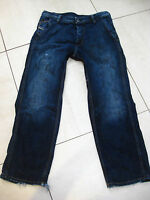 Mens DIESEL PHEYO JEANS W32 x L30 loose comfort fit BUTTON FLY blue distressed