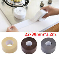 PVC Waterproof Adhesive Sink Stove Kitchen Bathroom Corner Sealant Tape Strips