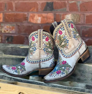 Women Embroidery PU Leather Knight Boots Ethnic Style Thick Heels Cowgirls Zha19