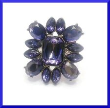 New Large Fashion Dark Blue Cluster Ring Size 7 FREE SHIPPING  # 258