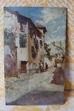 Huile sur bois école CORSE Italienne ou du Sud signé C. CAMPO vers 1900 ,21X32cm