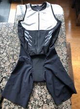 Roka Men's Gen II Elite Aero Slweveless Tri Suit White/Black Large
