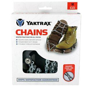YAKTRAX 'CHAINS' SHOE CRAMPONS Walk Snow Ice Walking Hike Pro Shoe Grips