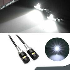 2x White  Bolt-On LED License Plate Light Screw Rear Bulbs for Kawasaki Suzuki