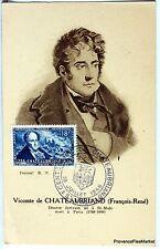 France Carte Maximum  1948 VICOMTE DE CHATEAUBRIAND      Yt 816