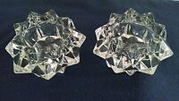 "Pair / 2 Lead Crystal Star Votive Candle Holder 4"" X 2"""
