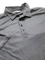 Travis Mathew Mens Short Sleeve Golf Polo Shirt Heather Grey Size Large
