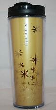 Starbucks Coffee 2011 Metallic Gold Star Tumbler 12fl oz 355ml