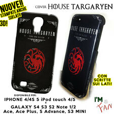 Cover Game of thrones HOUSE TARGARYEN iPhone 4 4s 5 Galaxy S4 S3 S2 Note 2 in 3D