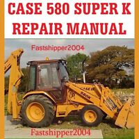 JJG016001 + CASE SUPER 580K 580 K LOADER BACKHOE TLB SHOP SERVICE REPAIR MANUAL