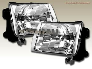 FIT FOR 98 99 00 Frontier 00-01 Xterra Headlights Clear