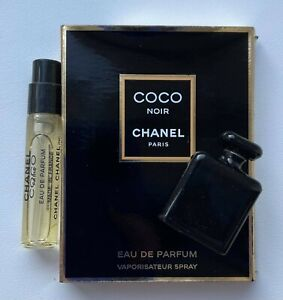 CHANEL COCO NOIR 2 ml miniature + ceramic porcelain diffuser blotter VIP GIFT