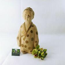 "Japanese Asian Male Figurine Sculpture Dressed in Kimono 12"""