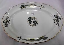"Meissen 'Green Dragon' with Gold Accents oval Platter 11"" - REDUCED PRICE"