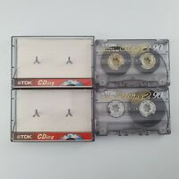 2x TDK CDing2 90 USED Cassette Tapes Tested Fully Working VGC Fast P&P