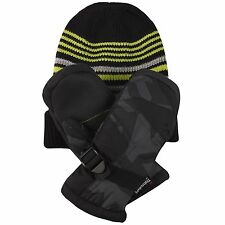 Free Country Kids' Hat and Mitten Set 3M Thinsulate Insulation Extra Warmth BK