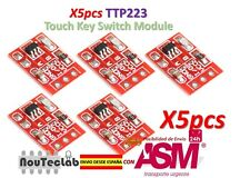 5pcs TTP223 Touch Key Switch Sensor Module Touch Button Capacitive Switches