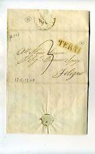 1847 STATO CHIESA lettera COLLESCIPOLI-FOLIGNO via TERNI-e913