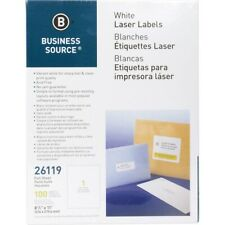Business Source Bright White Premium-quality Full-sheet Address Labels -