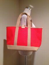 NWT J.Crew Surfside canvas tote bag in orange Retail $59.50