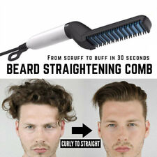 Men's Multifunctional Electric Comb Beard Hair Straightener Hair Curler Styler