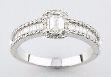 14k Oro Blanco Anillo de Compromiso Diamante Tamaño 7 Patron = 1,05 Ct F SI2