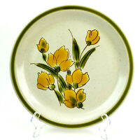 Stonybrook Stoneware Dinner Plate Spring Collection Yellow Flowers Green Japan