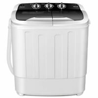 Costway Portable Compact 13 Lbs Mini Twin Tub Washing Machine Washer Spin Dryer