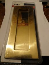 Door letter plate254x102mm  in brass finish